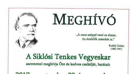 Kórustalálkozó 2017. szeptember 23-án a Siklósi Várban
