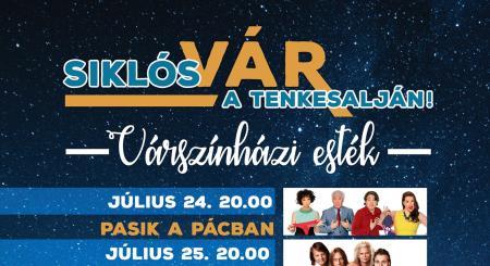 2018. július 24. és 27. között Várszínházi esték a Siklósi Várban